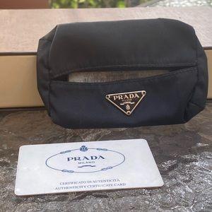 Prada Black Nylon Tissue Holder